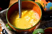 Close_up of Mexican food in a bowl, Los Arquitos De Xochimilco, Oaxaca, Oaxaca State, Mexico