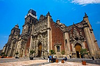 Low angle view of a cathedral, Metropolitan Cathedral, Mexico City, Mexico (thumbnail)
