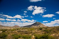 Clouds over a landscape, Real De Asientos, Aguascalientes, Mexico