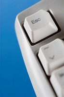 Escape key of a computer keyboard