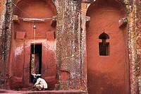 Bet Gabriel_Rufael, Lalibela, UNESCO World Heritage Site, Ethiopia, Africa
