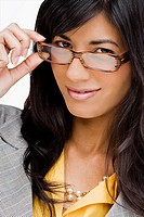 Portrait of a young woman wearing eyeglasses (thumbnail)