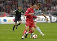 Milorad PEKOVIC FSV Mainz 05 (right) vs. Roberto HILBERT VfB Stuttgart