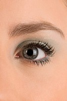 Close_up of a young woman's eye