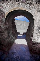 Old ruins of a fort, Real De Catorce, San Luis Potosi, Mexico