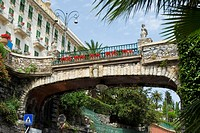 Low angle view of a bridge, Italian Riviera, Via Antonio Gramsci, Santa Margherita Ligure, Genoa, Liguria, Italy