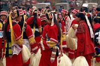 Torch Festival, gathering of minority groups, Yunnan, China, Asia