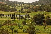 Golf course near Sant Eulari, Roca Lisa, Ibiza, Spain, Balearic Islands, Europe