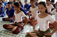 Dance School teaching classical ballet, Association for the Conservation of Arts and Culture, Phnom Penh, Cambodia, Indochina, Southeast Asia, Asia