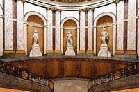 Hall with statues in the Bode Museum, Berlin, Germany