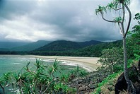Cape Tribulation, near where Captain Cook ran aground on reef, Queensland, Australia, Pacific