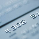 Close up of numbers on credit card