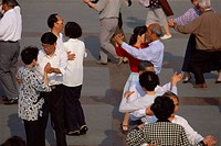 Ballroom dancing, a popular activity on the Bund, Shanghai, China, Asia