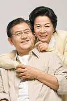 An affectionate middle_aged couple