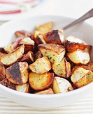 Roasted Garlic Potatoes in a Bowl