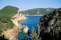 Paleokastritsa, Corfu, Greek Islands, Greece, Mediterranean, Europe