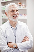 Close up of pharmacist with arms crossed