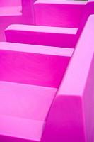 Seats plastic pink
