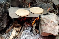 Ladhaki use the flagstone bake Bread