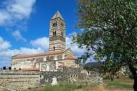 Santissima Trinita di Saccargia, Logudoro region, Sardinia, Italy, Europe
