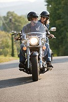 Couple on a motorbike