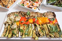 Grilled vegetables courgettes, peppers and aubergine