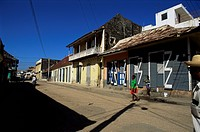 Typical buildings, Cap Haitien, Haiti, West Indies, Central America