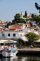 St. Nicholas´ Church at top of hill, Skiathos Town, Skiathos, Sporades Islands, Greek Islands, Greece, Europe