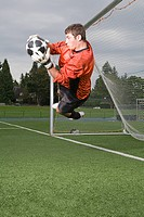 Goalkeeper making a save