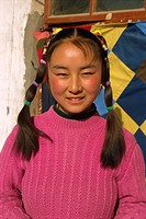 A Han peasant girl, Gansu Province, China, Asia