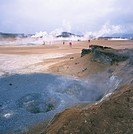 Namafjall geothermal area, north east, Iceland, Polar Regions