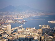 View of Port Vesuvio, Naples, Campania, Italy, Mediterranean, Europe