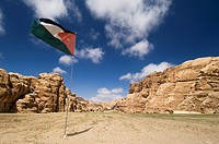 Jordanian flag, Jordan, Middle East