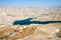 Wadi El Mujib Dam and lake, Jordan, Middle East