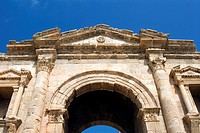 Main entrance, Hadrian's Arch, Jerash Gerasa, a Roman Decapolis City, Jordan, Middle East