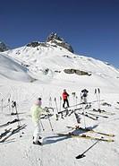Ski resort in Zuers, Arlberg, Austria