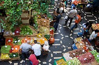 Fresh fruit and vegetables in the market, Funchal, Madeira, Portugal, Europe