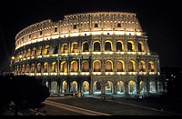 The Kolosseum in Rome at night