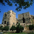 The Monumental Gateway to the Arab Citadel, built in 1260, Aleppo, UNESCO World Heritage Site, Syria, Middle East