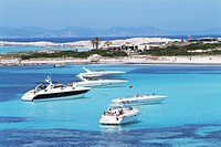 Platja Illetas, Formentera, Balearic Islands, Spain, Mediterranean, Europe