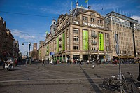 De Bijenkorf, Amsterdam's best known department store, Dam Square, Amsterdam, Netherlands, Europe