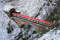Tauern railway in the winter