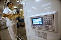 Hospital pharmacy, automated storage system. Hospital Universitario de Gran Canaria Doctor Negrin, Las Palmas de Gran Canaria. Canary Islands, Spain