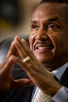 Close_up of African American businessman
