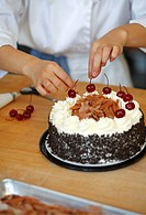 Making black forest cake