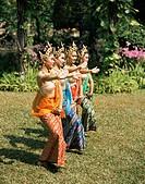 Thai dancing, Oriental Gardens, Bangkok, Thailand, Southeast Asia, Asia