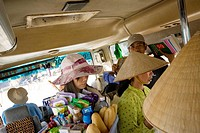 Travelling in the bus, Ha Tien, Vietnam