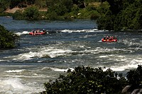Rapids on the Nile, Uganda, East Africa, Africa