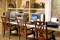 Home office with two computers
