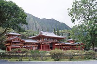 Byodo_In Temple, Buddhist shrine on Windward Coast, Oahu, Hawaii, Hawaiian Islands, United States of America U.S.A., North America